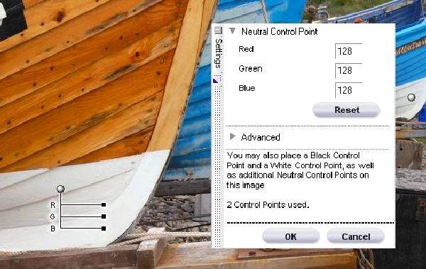 Capture nx control points on RAW Test